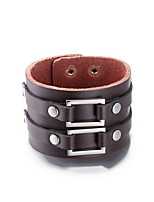 Men's Leather Bracelet Friendship Punk PU Alloy Round Jewelry Jewelry For Daily Casual Stage Office & Career Street