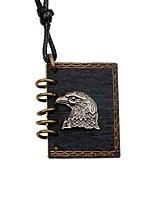 Men's Women's Pendant Necklaces Locket Eagle Wood Alloy Punk DIY Jewelry For Gift Going out