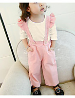 Girls' Solid Sets,Cotton Fall Winter Long Sleeve Clothing Set