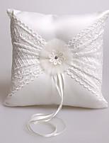 lacets ruban strass satin anneau de soie oreillers cérémonie de mariage