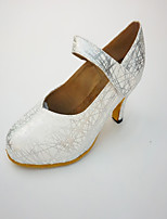 Women's Salsa Leatherette Sneaker Indoor Buckle Low Heel Gold Black Silver 1