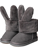 Girls' Shoes Cowhide Winter Fluff Lining Comfort Boots For Casual Blushing Pink Gray Black