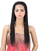 Women Lace Front Long Straight Black Natural Wigs Costume Wig