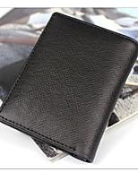 Men Bags All Seasons Cowhide Wallet Zipper for Casual Black