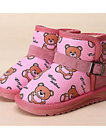 Girls' Shoes Leatherette Fall Winter Comfort Snow Boots Boots For Casual Blushing Pink Blue Black