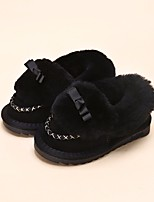 Girls' Shoes Real Leather Fall Winter Comfort Loafers & Slip-Ons For Casual Camel Blushing Pink Light Purple Black