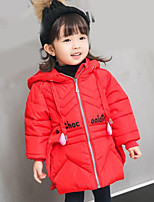 Girls' Solid Down & Cotton Padded Fall Winter Long Sleeve