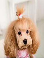 Кошка Собака Аксессуары для создания прически Одежда для собак Пластик Весна/осень Зима Для вечеринки На каждый день Свадьба Хэллоуин