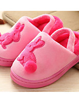 Girls' Shoes Fleece Fall Winter Comfort Slippers & Flip-Flops For Casual Blushing Pink Blue Brown Peach