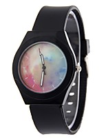 Women's Fashion Watch Wrist watch Chinese Quartz Colorful Silicone Band Black White