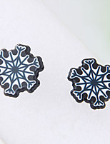 Women's Stud Earrings Fashion Acrylic Alloy Snowflake Jewelry For Christmas
