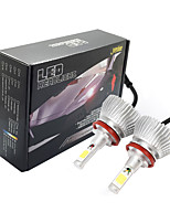 Joyshine C6-H11 LED Headlight Bulbs 60W 6000LM DC9-36V COB Conversion Bulb Beam Kit (2PCS)