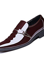 Men's Shoes Microfibre Spring Fall Formal Shoes Loafers & Slip-Ons Rivet For Office & Career Party & Evening Brown Black
