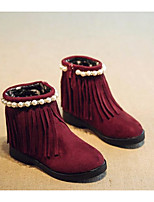 Girls' Shoes Suede Fall Winter Snow Boots Boots For Casual Burgundy Brown Black