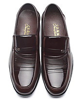 Men's Shoes PU Spring Fall Comfort Loafers & Slip-Ons For Casual Black Brown