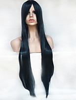 Women Synthetic Wig Capless Long Straight Black With Bangs Party Wig Halloween Wig Costume Wig
