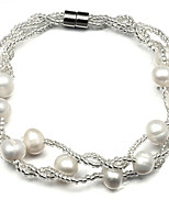 Women's Bracelet Strand Bracelet Pearl Fashion Classic Pearl Jewelry For Party Daily