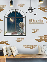 Cartoon Wall Stickers 3D Wall Stickers For Astronomers,Plastic Material Home Decoration Wall Decal