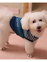 Dog Sweater Dog Clothes Casual/Daily Stripe Blue Red