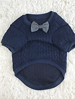 Dog Sweaters Dog Clothes Casual/Daily Solid Blue