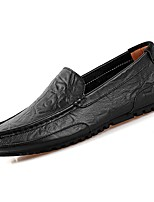 Men's Shoes Synthetic Microfiber PU PU Leatherette Spring Fall Comfort Loafers & Slip-Ons For Casual Brown Black