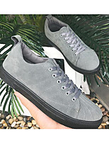 Homme Chaussures Polyuréthane Printemps Automne Confort Basket Pour Décontracté Noir Gris