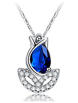 Women's Pendant Necklaces Crystal Cubic Zirconia Flower Zircon Alloy Jewelry For Party Daily