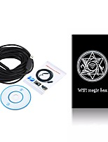 Lente de 10mm wifi endoscope usb camera inspection borescope impermeável ip67 snake wireless cam para android ios pc 15m cabo