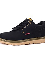 Men's Shoes PU Spring Fall Comfort Oxfords Lace-up For Casual Khaki Brown Black