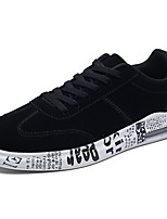 Men's Shoes Nappa Leather Spring Fall Comfort Sneakers Lace-up For Outdoor Black/White Black/Gold Gray