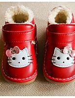 Fille Chaussures Polyuréthane Automne Hiver Premières Chaussures Doublure fluff Basket Pour Décontracté Fuchsia Rouge Rose