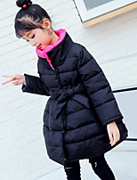 Girls' Solid Down & Cotton Padded,Polyester Winter Long Sleeve