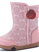 Girls' Shoes Leatherette Fall Winter Comfort Fashion Boots Boots For Casual Blushing Pink