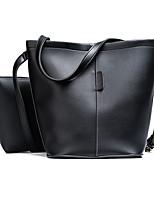 Women Bags All Seasons PU Bag Set Zipper for Casual Office & Career White Black Blushing Pink Gray