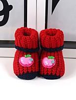 Fille Chaussures Coton Automne Hiver Confort Mocassins et Chaussons+D6148 Pour Décontracté Orange Jaune Rouge Bleu Rose