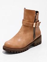 Femme Chaussures Similicuir Printemps Hiver Bottes de Cowboy / Western Bottes à la Mode Bottes Gros Talon Bout rond Bottine/Demi Botte