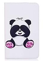 carteira de cartão panda padrão carteira com suporte flip caixa de couro magnético PU para samsung galaxy tab e 8.0 t377 t377v tablet de