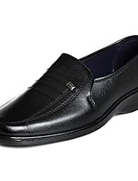 Masculino sapatos Pele Couro Ecológico Primavera Outono Conforto Mocassins e Slip-Ons Para Casual Preto