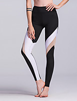Women's Medium Stitching Solid Color Legging,Color Block