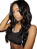 Women Human Hair Lace Wig Brazilian Human Hair Lace Front 150% Density Body Wave Wig Dark Black Short Medium Length Long