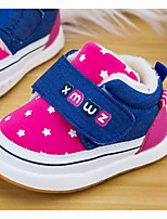 Girls' Shoes Real Leather Fall Winter Comfort Sneakers For Casual Blue Red Fuchsia
