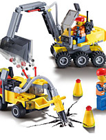 Building Blocks Backhoe Loader Excavator Toys Vehicles Boys 192 Pieces
