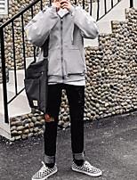 Для мужчин Большие размеры Простой Большие размеры Толстовка Буквы Слабоэластичная Полиэстер Длинный рукав Осень Зима