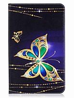 raccoglitore del supporto della carta di modello della farfalla con la cassa di cuoio magnetica di vibrazione del basamento della stuoia