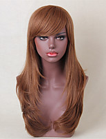 Women Human Hair Capless Wigs Medium Auburn/Bleach Blonde Medium Auburn Black Long Natural Wave Side Part Hot Sale