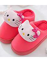 Girls' Shoes Fleece Fall Winter Comfort Slippers & Flip-Flops For Casual Dark Blue Coffee Red Pink