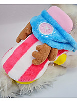 Dog Hoodie Dog Clothes Casual/Daily Stripe Orange Blushing Pink