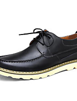 Men's Shoes Cowhide Spring Fall Light Soles Sneakers For Casual Brown Black