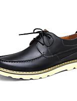 Для мужчин обувь Кожа Весна Осень Светодиодные подошвы Кеды Назначение Повседневные Черный Коричневый