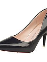 Для женщин Обувь Лакированная кожа Весна Осень Туфли лодочки Обувь на каблуках На шпильке Заостренный носок Назначение Повседневные